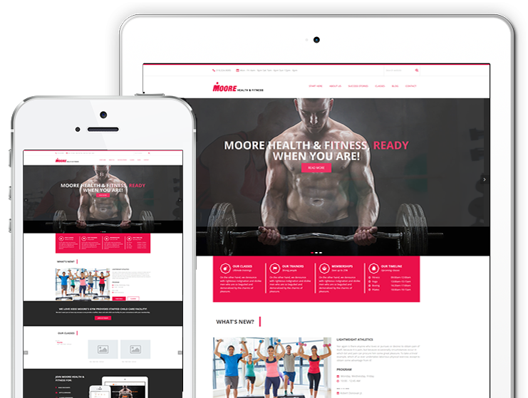 The Moore Health & Fitness website redesign